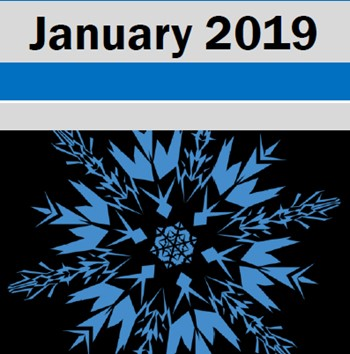 January 2019 with snowflake graphic