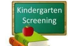Kindergarten Screening POSTPONED