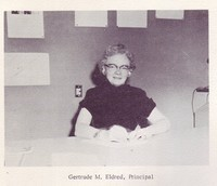 First Valleyview principal, Gertrude Eldred, 1960