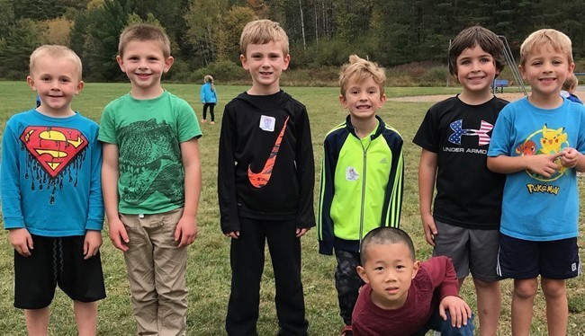 Kindergarten students enjoy fall recess