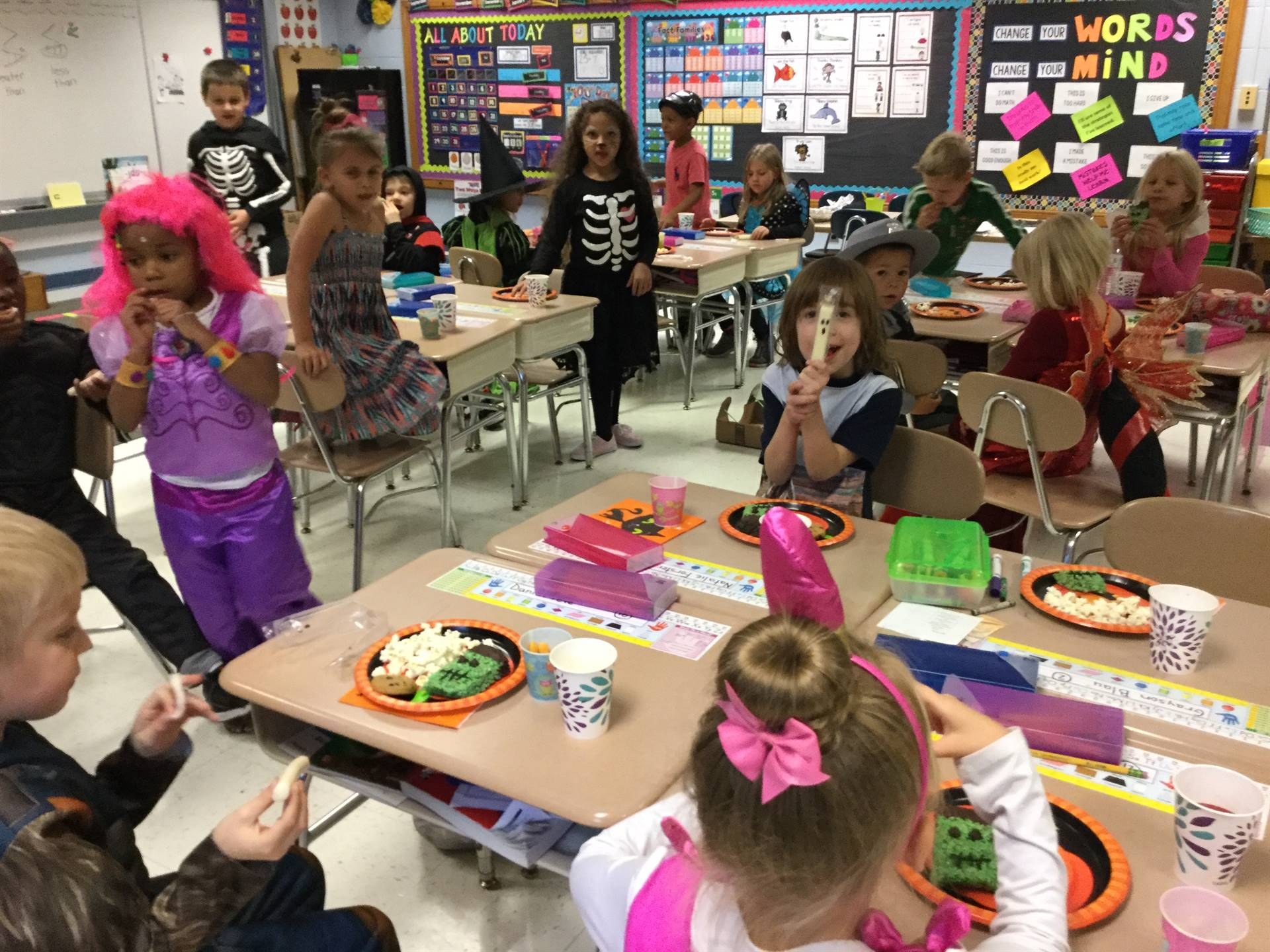 First grade Halloween celebration