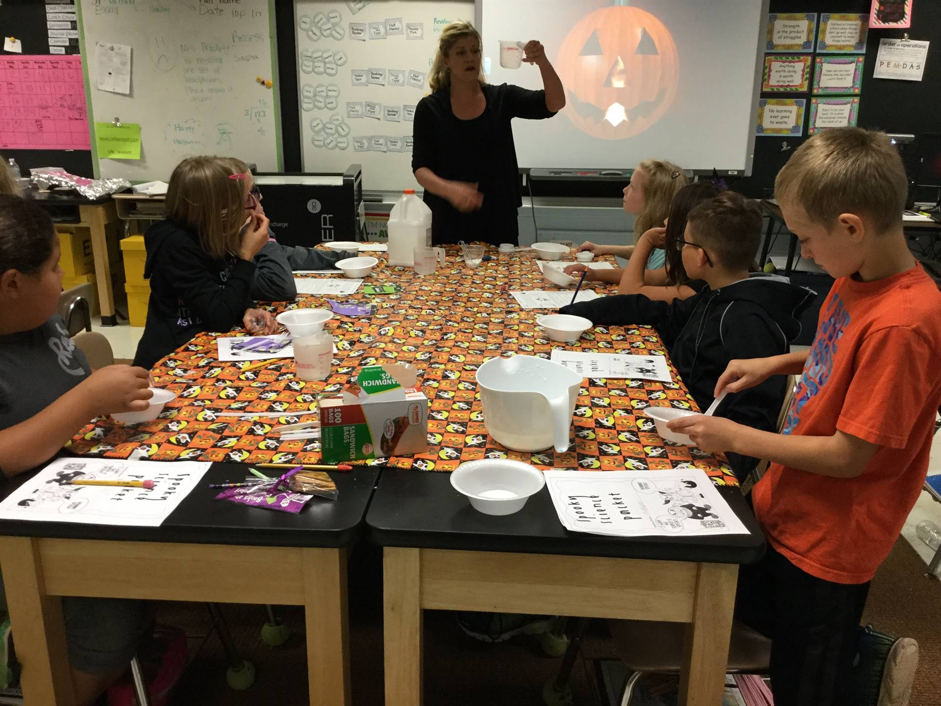 Fifth grade spooky science experiments