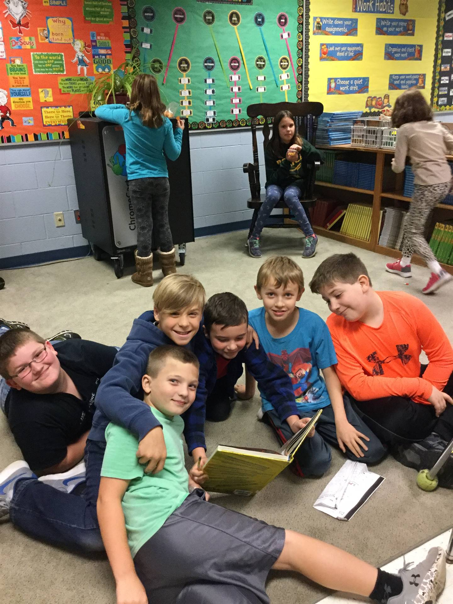 "Fourth graders ""caught"" reading"