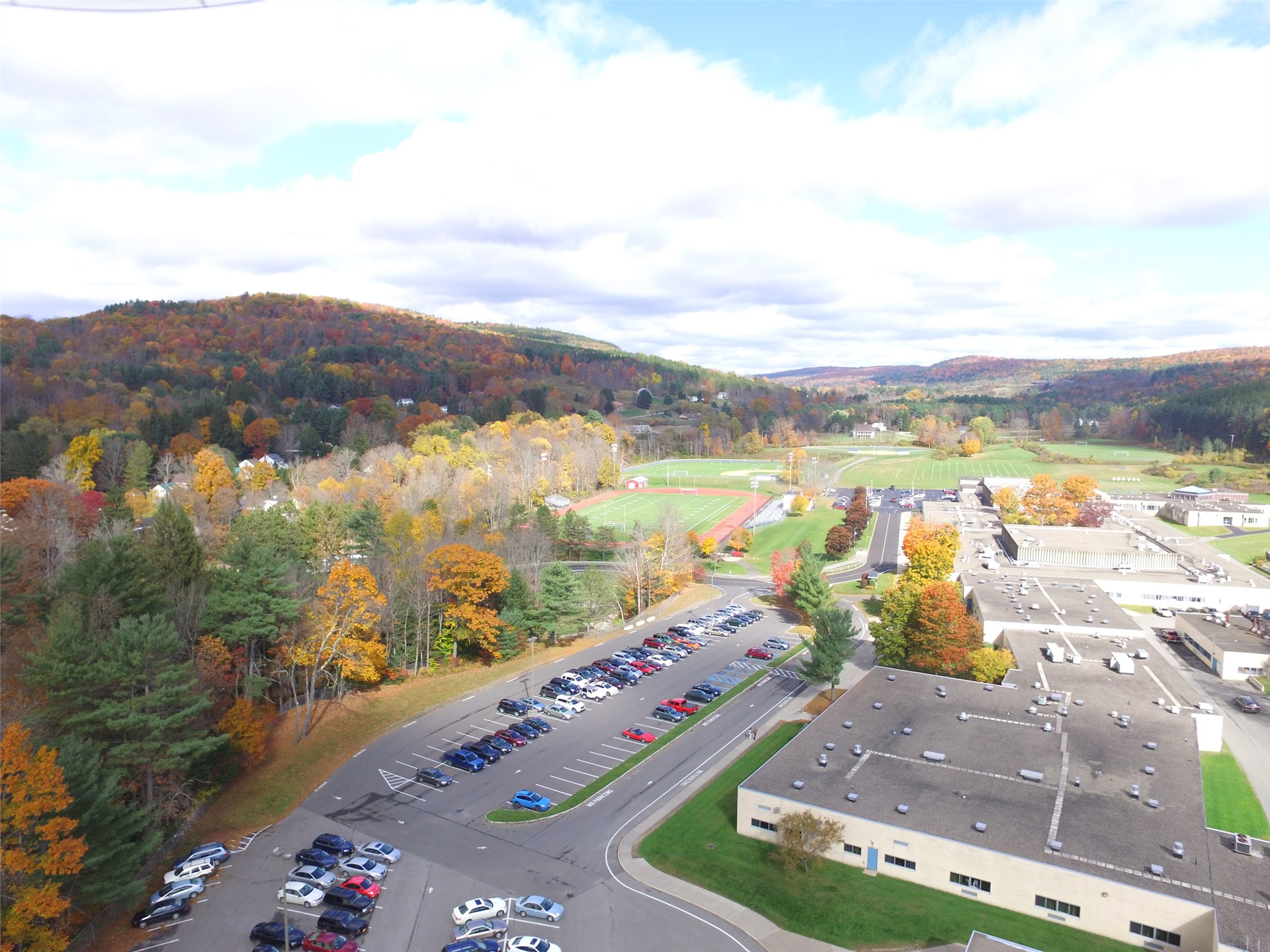 Aerial image of the Oneonta Middle School campus