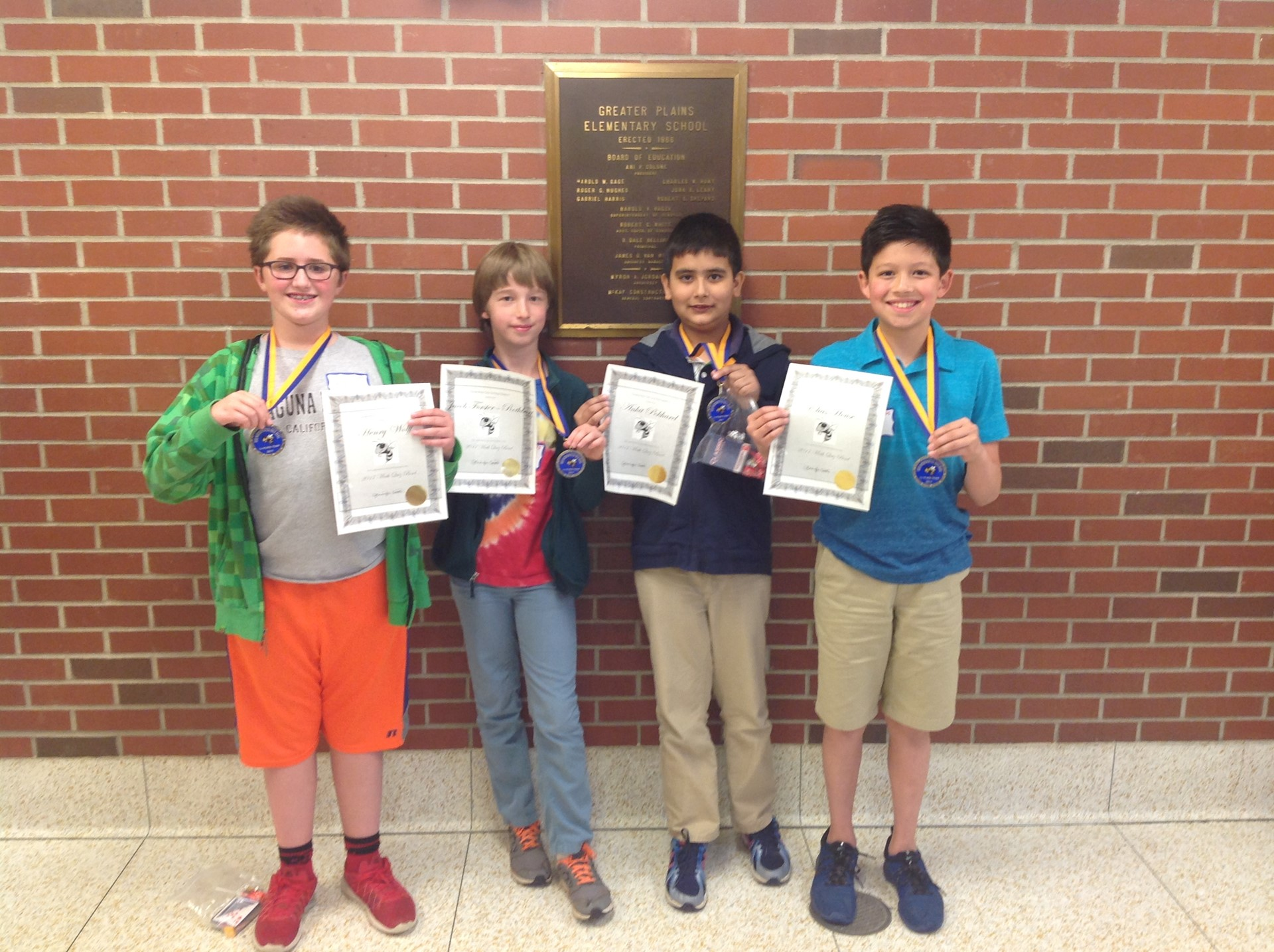 Fifth Math Bowl Participants