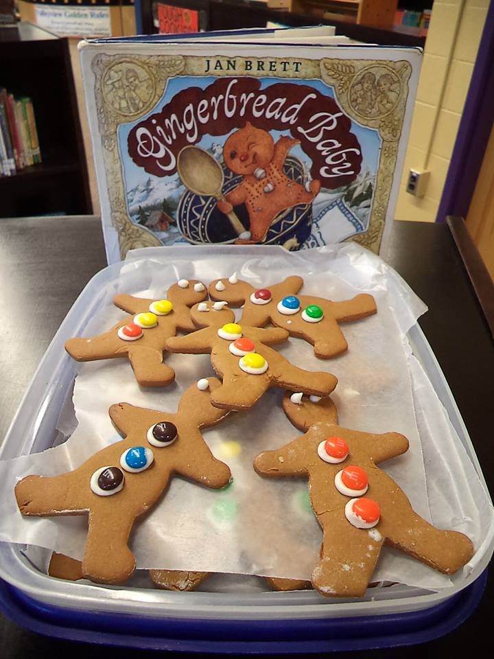 Gingerbread book & cookies