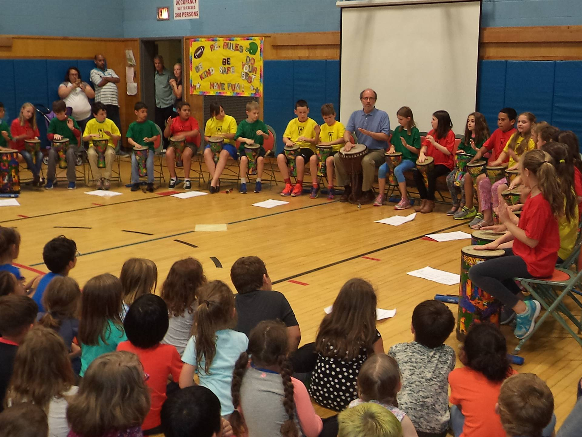 Third Grade African Drumming Performance