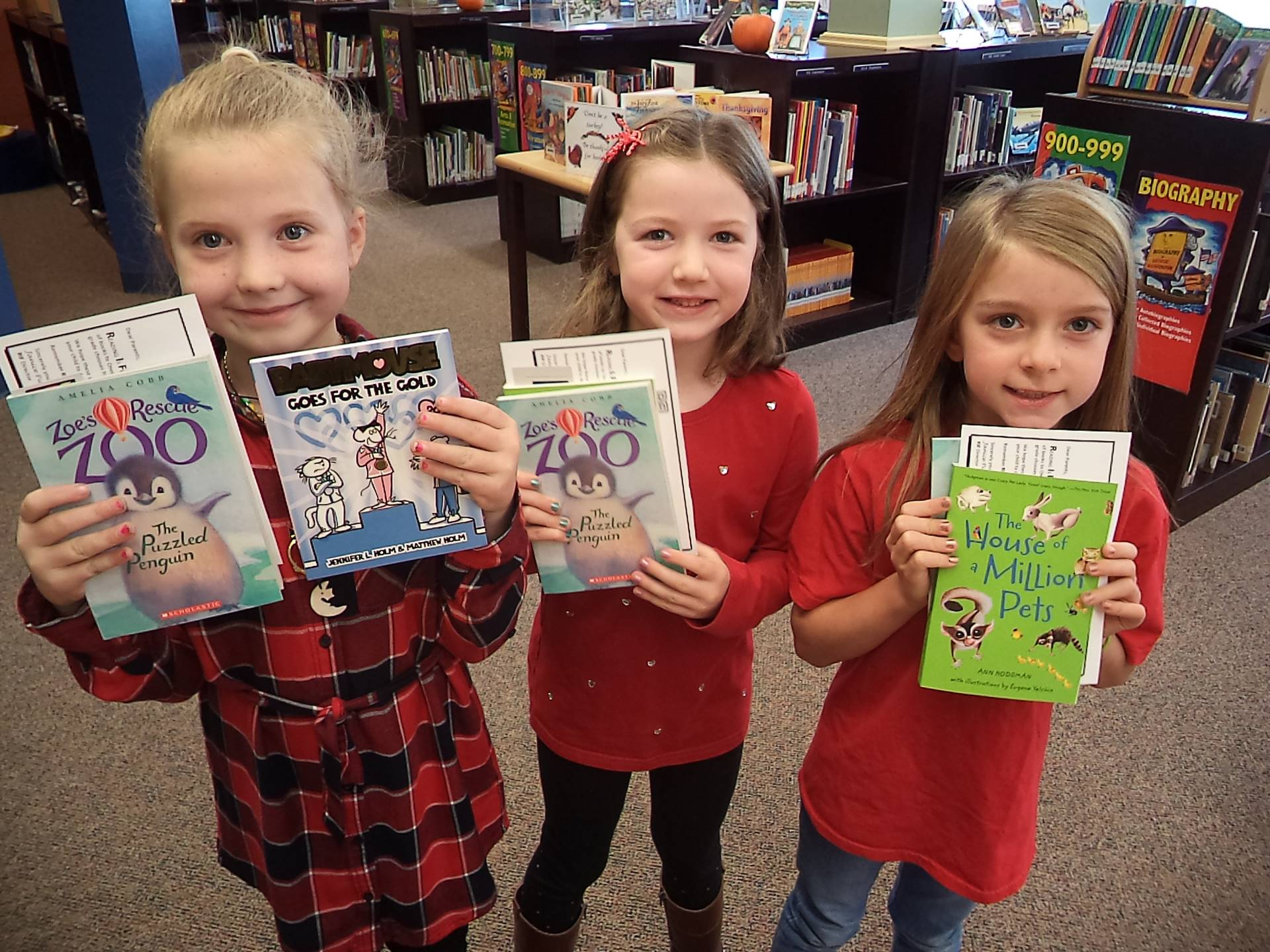 Students Celebrating Free Books at RIF