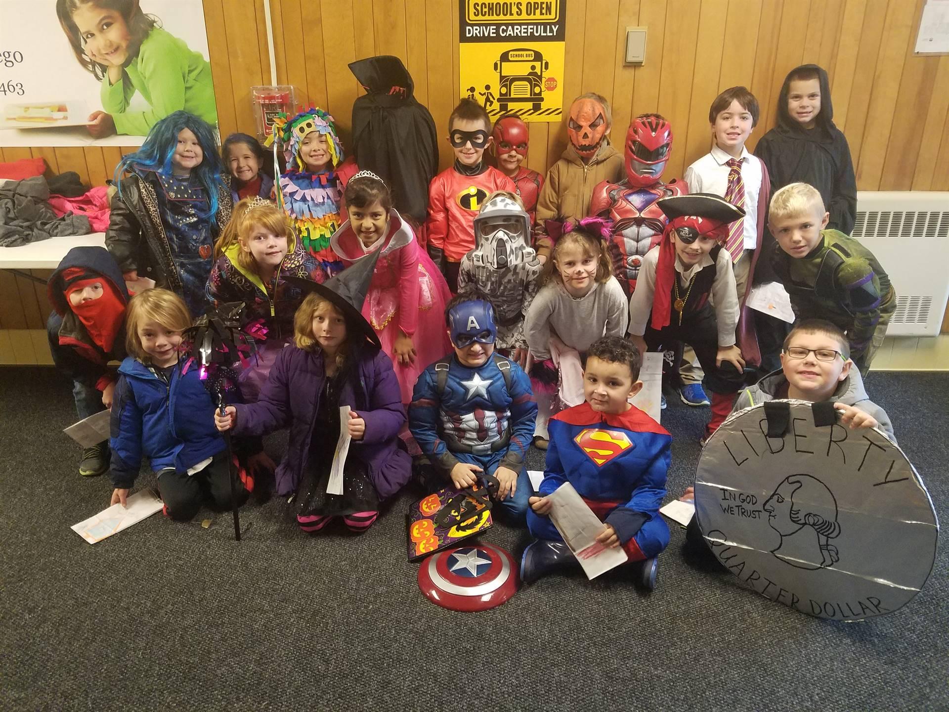 Mrs. Gabriel's class on Halloween