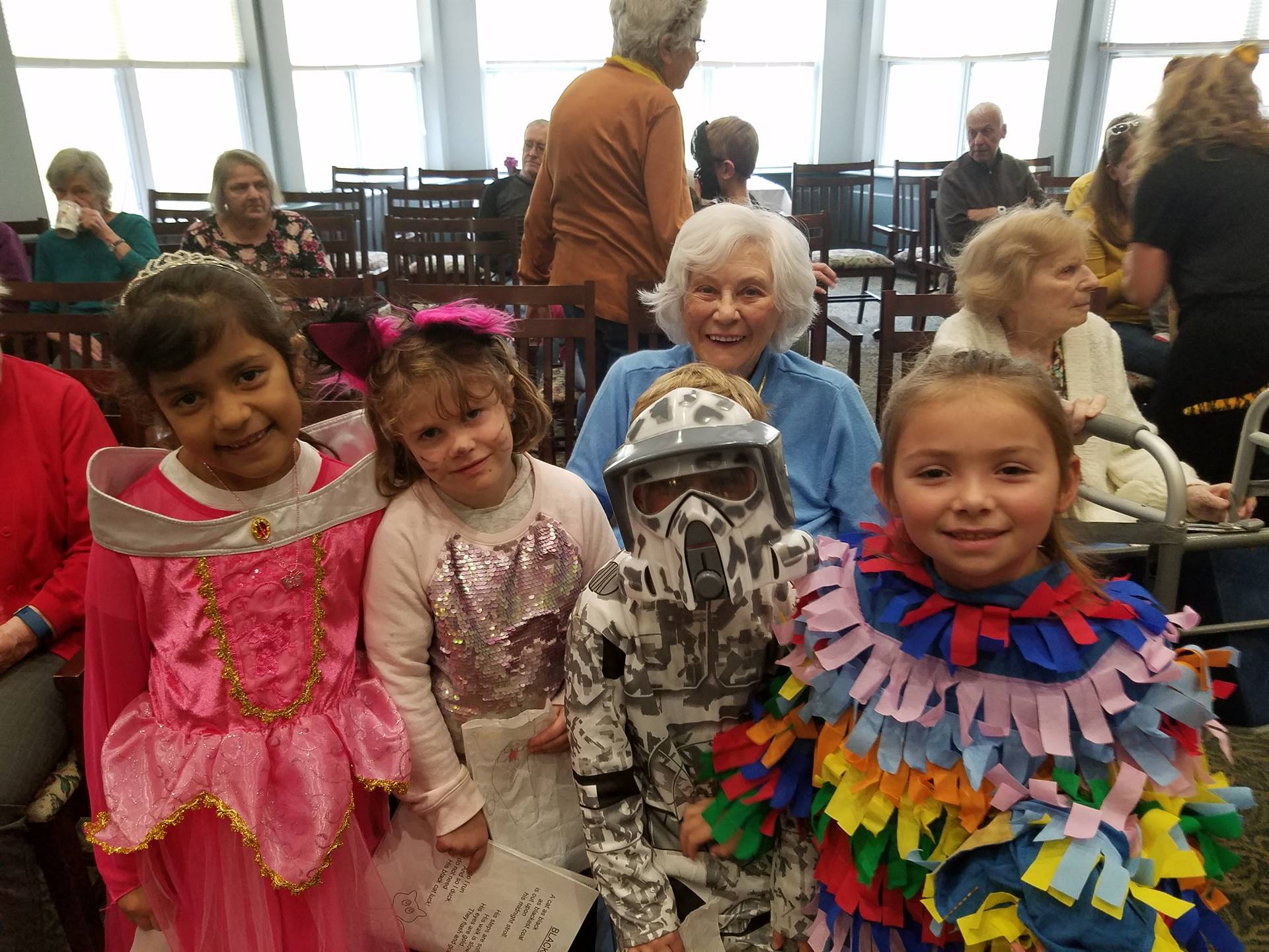 First grade students visit local nursing homes