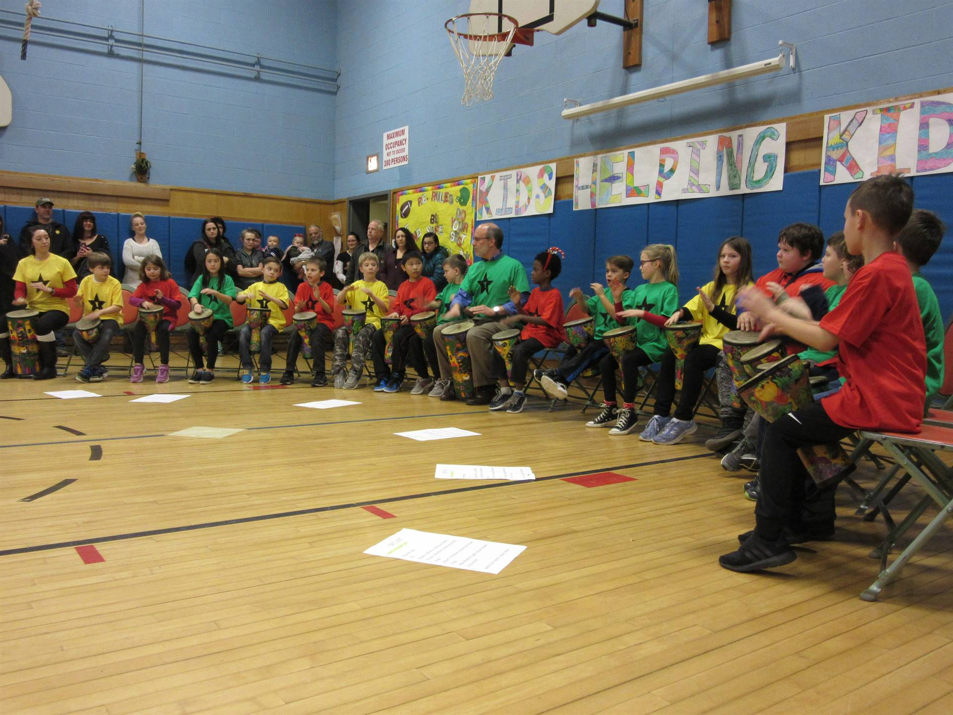 3rd grade African drum performance