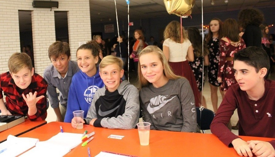 Picture of students at OMS Dance