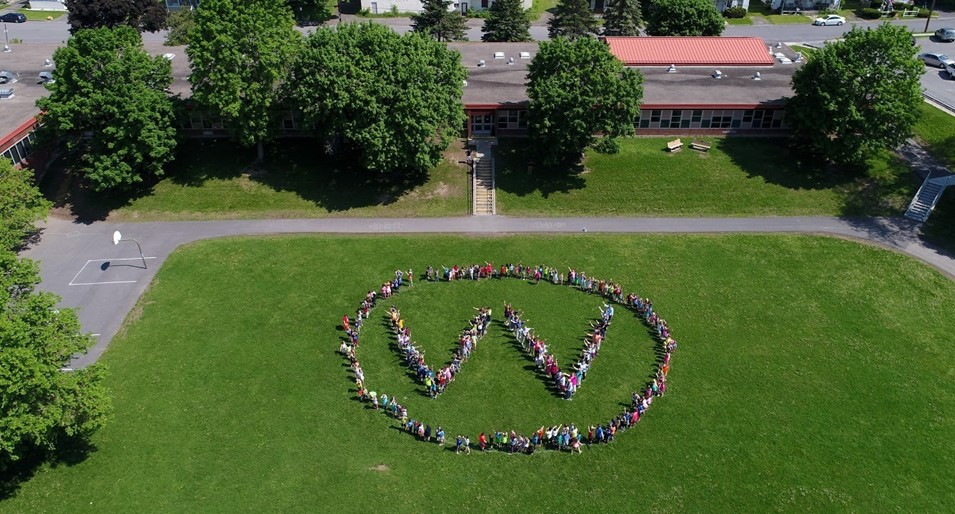 Drone view of Valleyview Elementary School