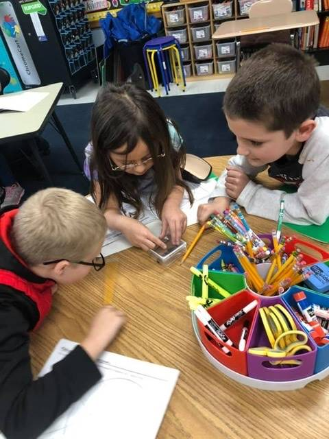 3rd graders learn about magnets