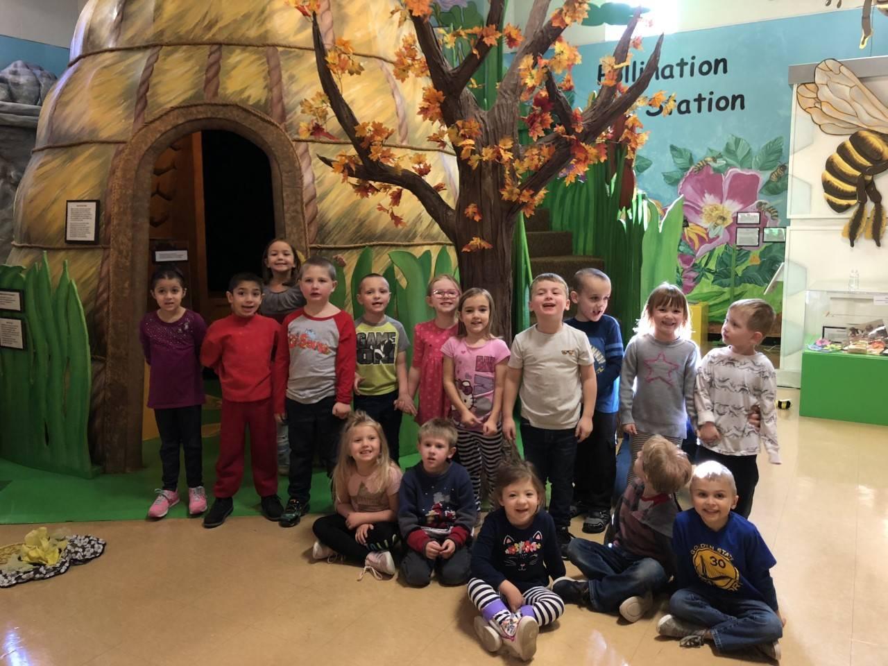 Kindergarten on field trip