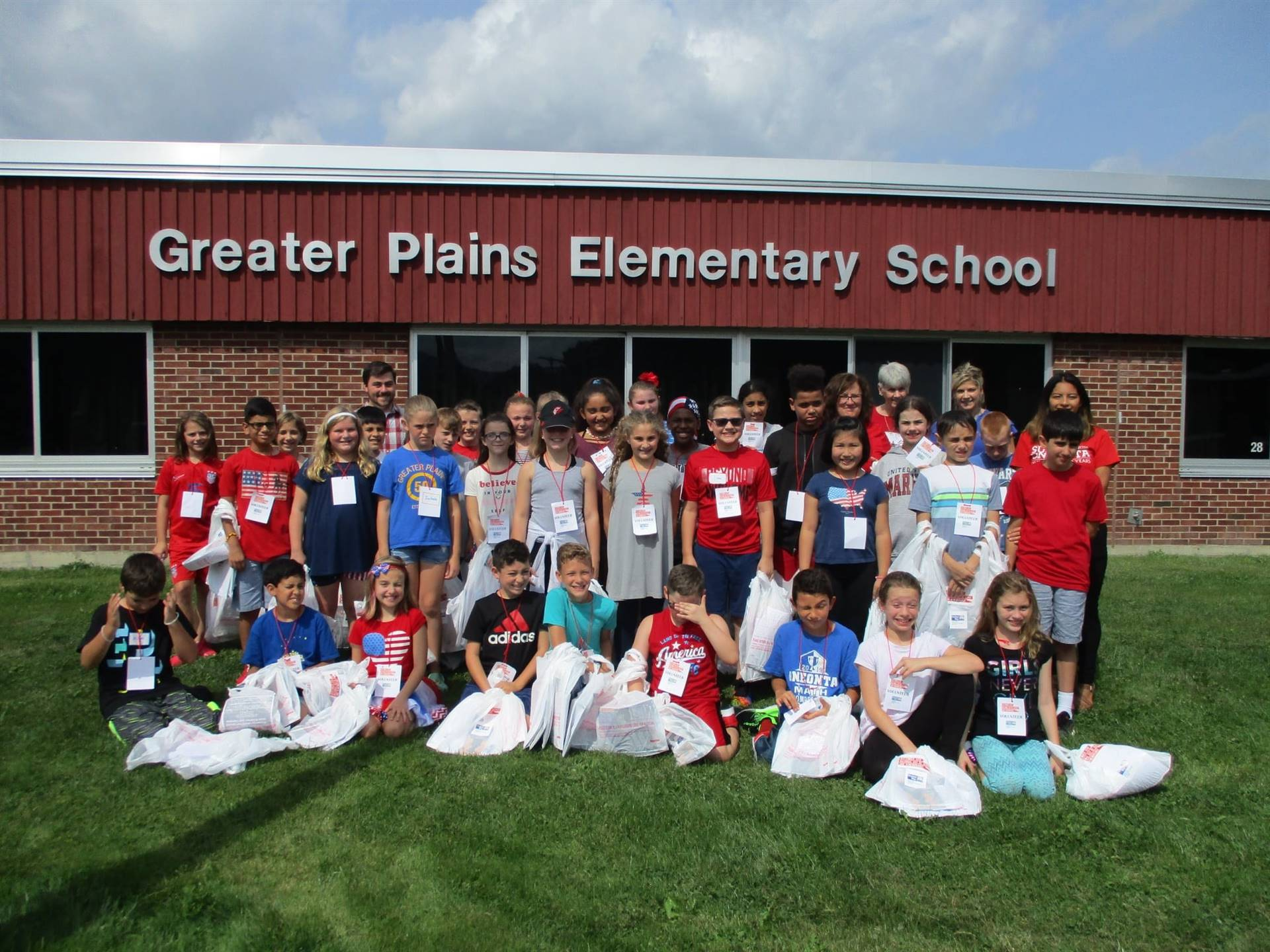 5th graders deliver cookies to first responders in honor of 9/11