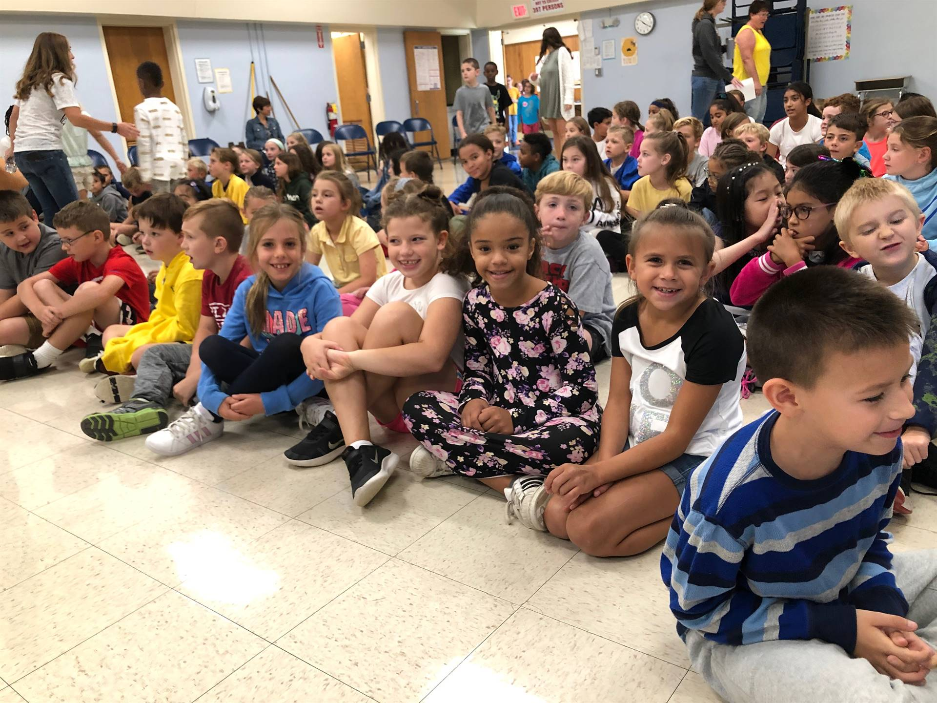 Students at Blue Project Assembly