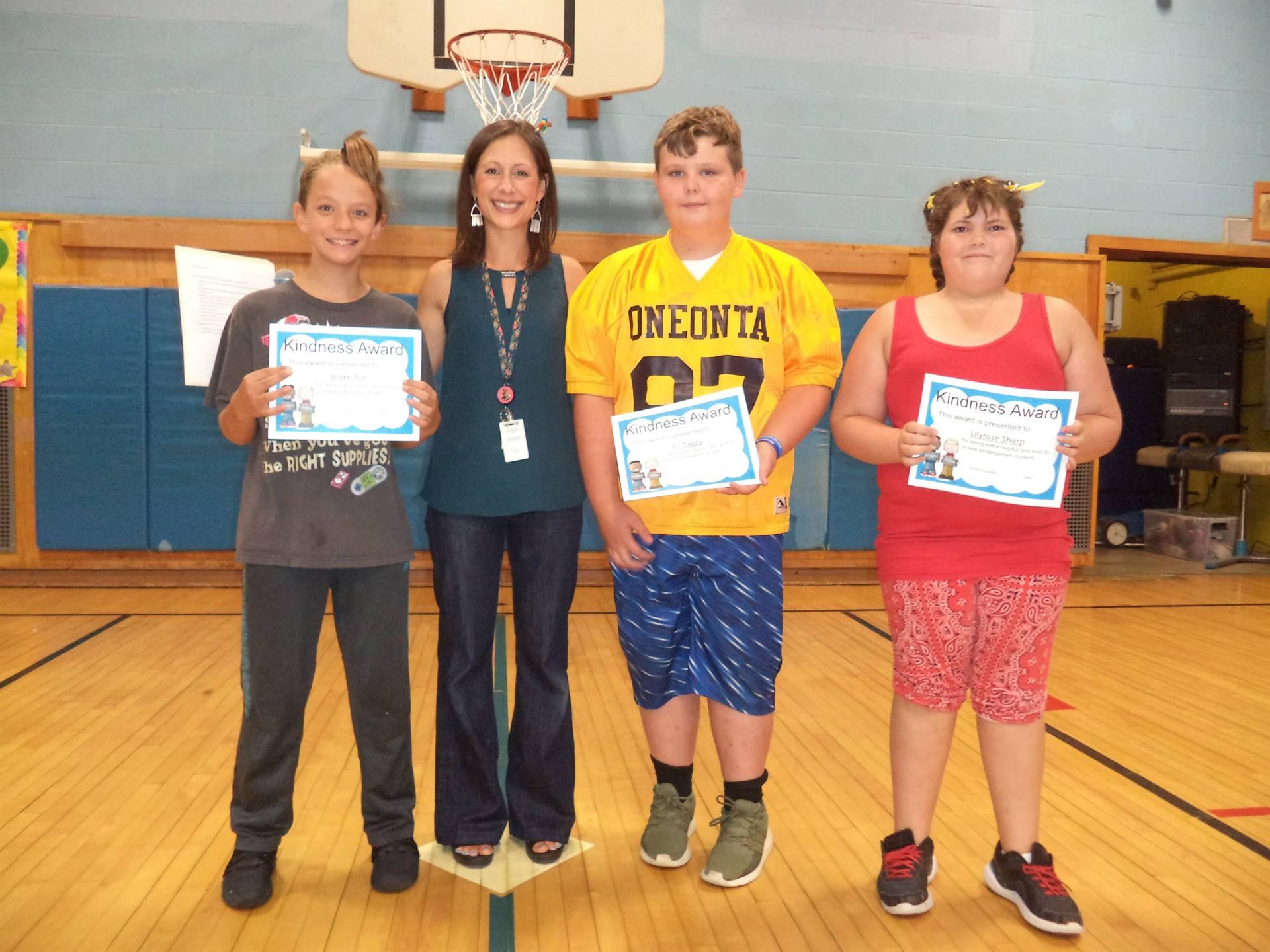 Kindness award winners