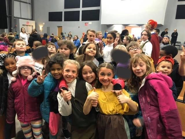 Students at a play