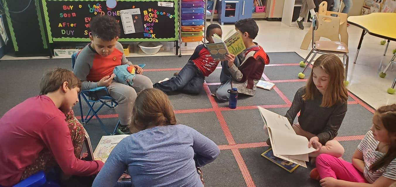 5th grade and 1st grade reading buddies