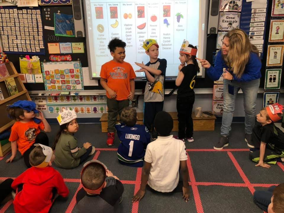 1st graders learning math
